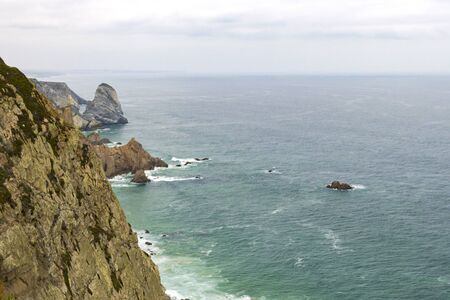 Cabo da Roca, Portugalcliffs over Atlantic Ocean, the most westerly point of the European mainland.