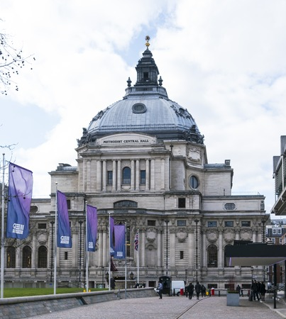 methodist: Methodist Central Hall in London LONDON, ENGLAND - FEBRUARY 22, 2016