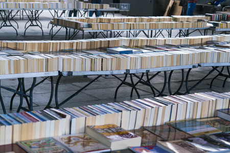 southbank: Second Hand Books - Street sale on South Bank LONDON, ENGLAND - FEBRUARY 22, 2016 Editorial