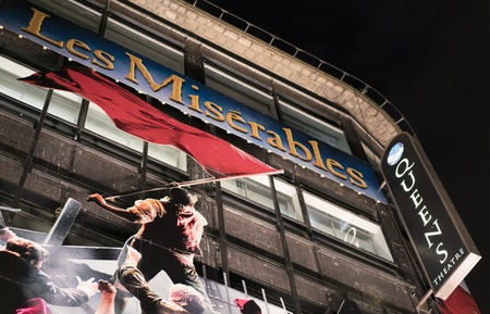 queen's theatre: Les Miserables Musical at Queens Theatre London LONDON, ENGLAND - FEBRUARY 22, 2016 Editorial