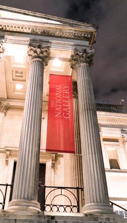 trafalgar: National Gallery at Trafalgar Square LONDON, ENGLAND - FEBRUARY 22, 2016