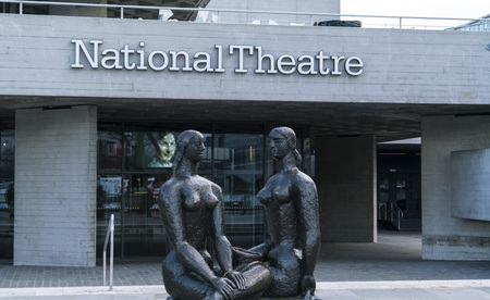southbank: National Theatre at Southbank London LONDON, ENGLAND - FEBRUARY 22, 2016