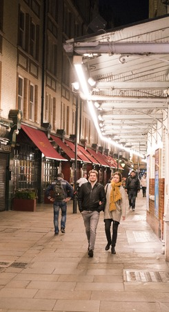 soho: Theatre District in London SOHO LONDON, ENGLAND - FEBRUARY 22, 2016 Editorial