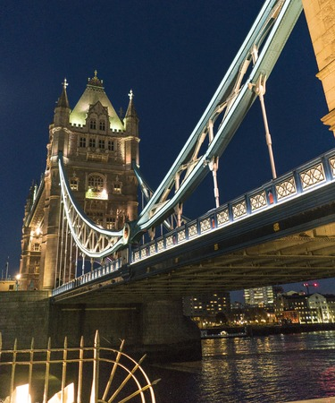 river thames: Tower Bridge London over River Thames - beautiful night view Stock Photo