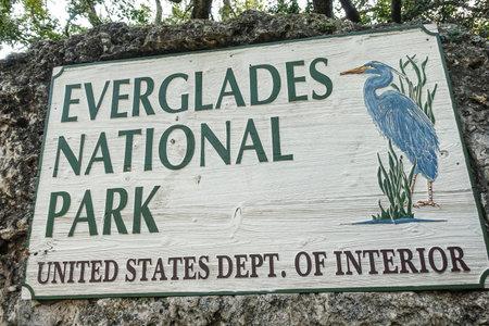 Everglades National Park Entrance sign Editöryel