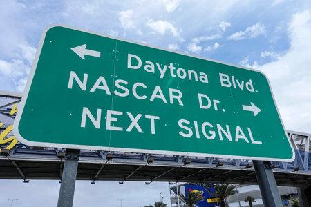 nascar: Street sign Nascar Dr and Daytona Boulevard