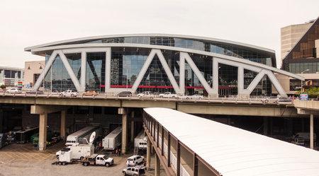 philips: Philips Arena Atlanta - big Atlanta writing