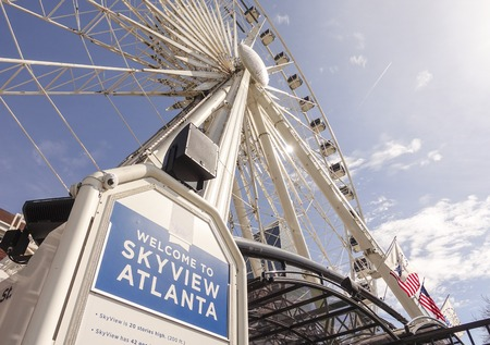 centennial: Skyview Atlanta - big Ferris Wheel at Centennial Olympic Park Editorial