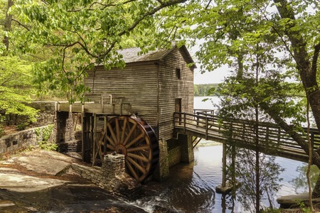 Romantic Mill at Stone Mountain National Park Stok Fotoğraf - 56113443