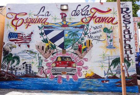 sawgrass: Little Havana Miami - wonderful paintings on the wall