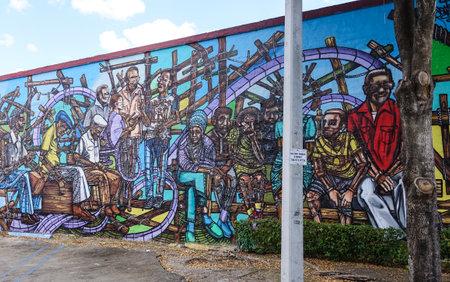 sawgrass: Wall Painting in Little Havana Miami