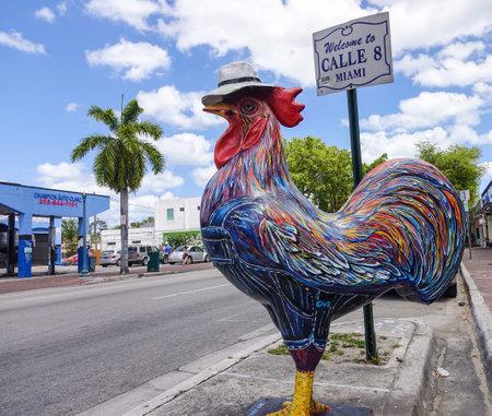 sawgrass: Famous Cock on the street of Little Havana on Calle 8