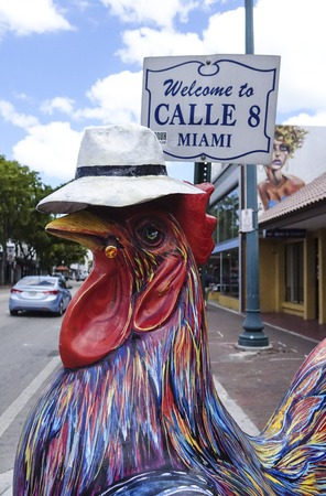 sawgrass: Little Havana Welcome sign at Calle 8 Miami Florida