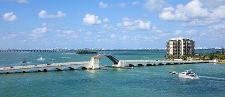 sawgrass: Venetian causeway bridge in Miami Editorial