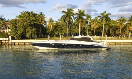 sawgrass: Luxury yacht in Miami Editorial