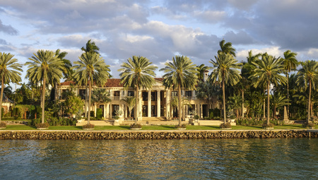 sawgrass: Luxury homes at Star Island in Miami Editorial
