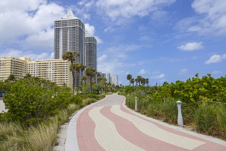 sawgrass: The Hotels and beachwalk in Miami Beach Stock Photo