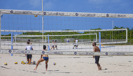 south beach: Beach volleyball at South Beach