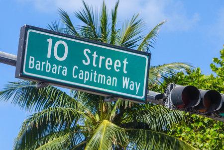 sawgrass: Street sign at Miami Beach Florida