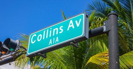 sawgrass: Collins Avenue street sign at Miami Beach