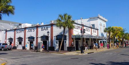 sawgrass: Famous Sloppy Joe Bar in Duval St Key West Editorial