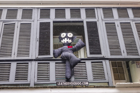 french quarter: Voodoo Doll in French Quarter of New Orleans Editorial