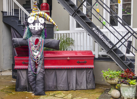 voodoo: Voodoo Doll in French Quarter of New Orleans Editorial