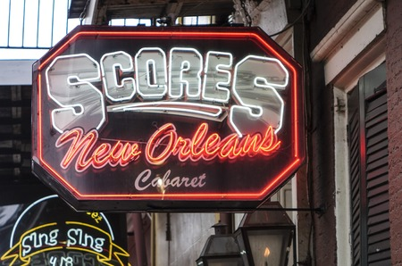 bourbon street: Clubs and restaurants in New Orleans Bourbon Street French Quarter Editorial