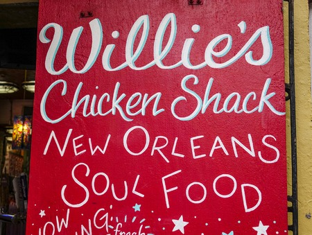french quarter: Clubs and restaurants in New Orleans Bourbon Street French Quarter Editorial
