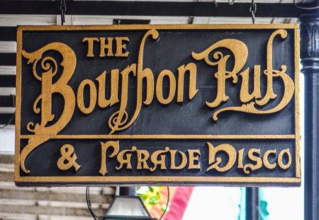 quarter: Famous Bourbon Pub in New Orleans French Quarter
