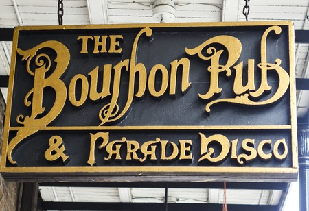 french quarter: Famous Bourbon Pub in New Orleans French Quarter