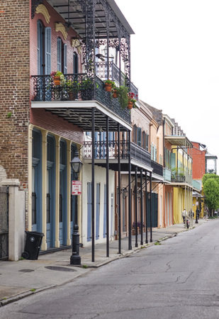 french quarter: Typical French Quarter street view in New Orleans