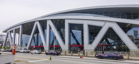 philips: Philips Arena in Atanta Downtown - Big Atlanta letters Editorial