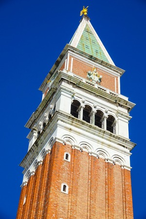 campanile: Campanile Tower at St Marks square in Venice - San Marco