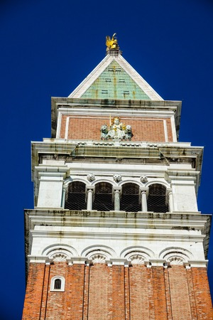 st  mark's square: Campanile Tower at St Marks square in Venice - San Marco