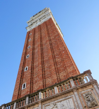 st marks square: Campanile Tower at St Marks square in Venice - San Marco