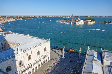 doge: Doge s Palace and St Giorgio island in Venice Stock Photo