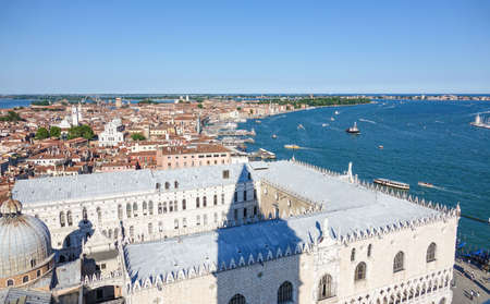 Doge s Palace in venice - aerial view - Palazzo Ducale