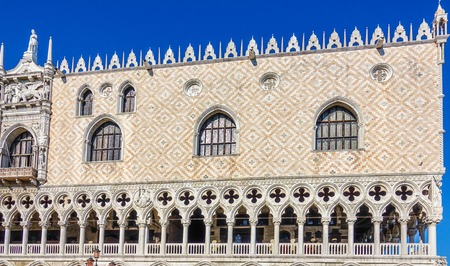 doges  palace: Famous Doges Palace in Venice - Palazzo Ducale Stock Photo
