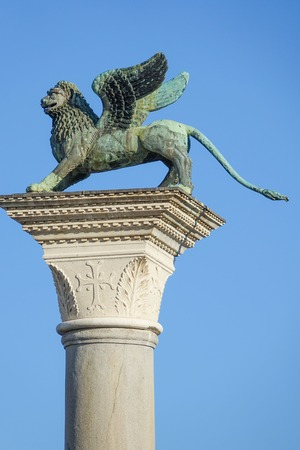 famous statues: Famous statues at St Marks square - San Marco Venice Stock Photo