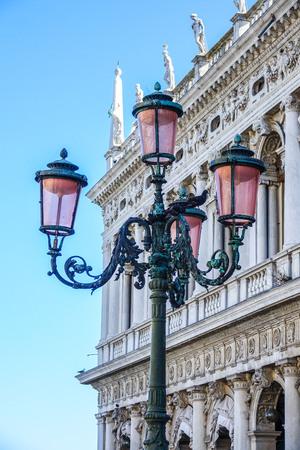 st mark's square: Lantern on St Marks square Venice
