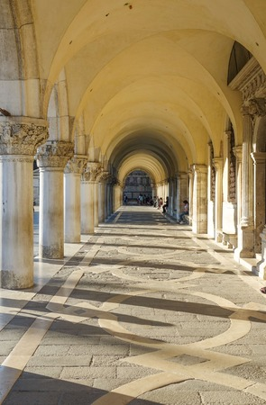 The colonnade under Doges Palace - Piazza Ducale San Marco