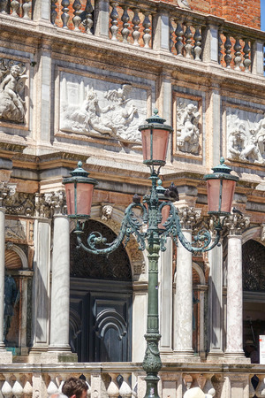 st marks square: Beautiful street lantern at St Marks Square in Venice