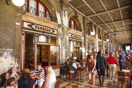 Famous cafe Florian in Venice Editorial
