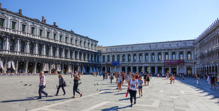 st mark: St Mark s square in Venice - Piazza San Marco Editorial