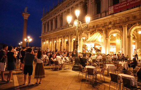 st mark's square: Beautiful St Marks Square by night