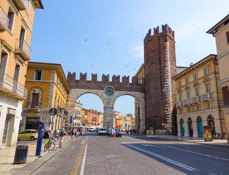 verona: The historic city center of Verona Italy Editorial