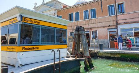 waterbus: Waterbus Stop Redentore in Venice - ACTV Waterbus Editorial