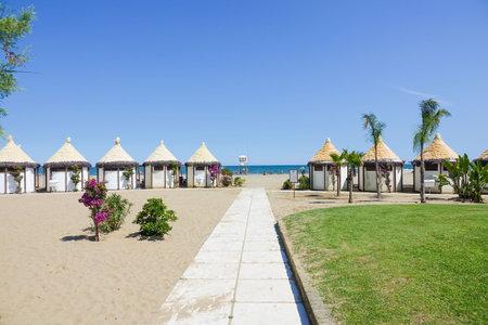 lido: Famous Lido Beach in Venice Editorial
