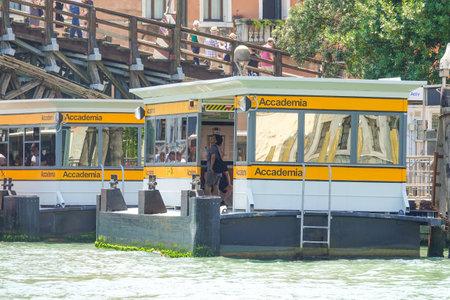 waterbus: Waterbus Stop Accademia in Venice - ACTV Waterbus